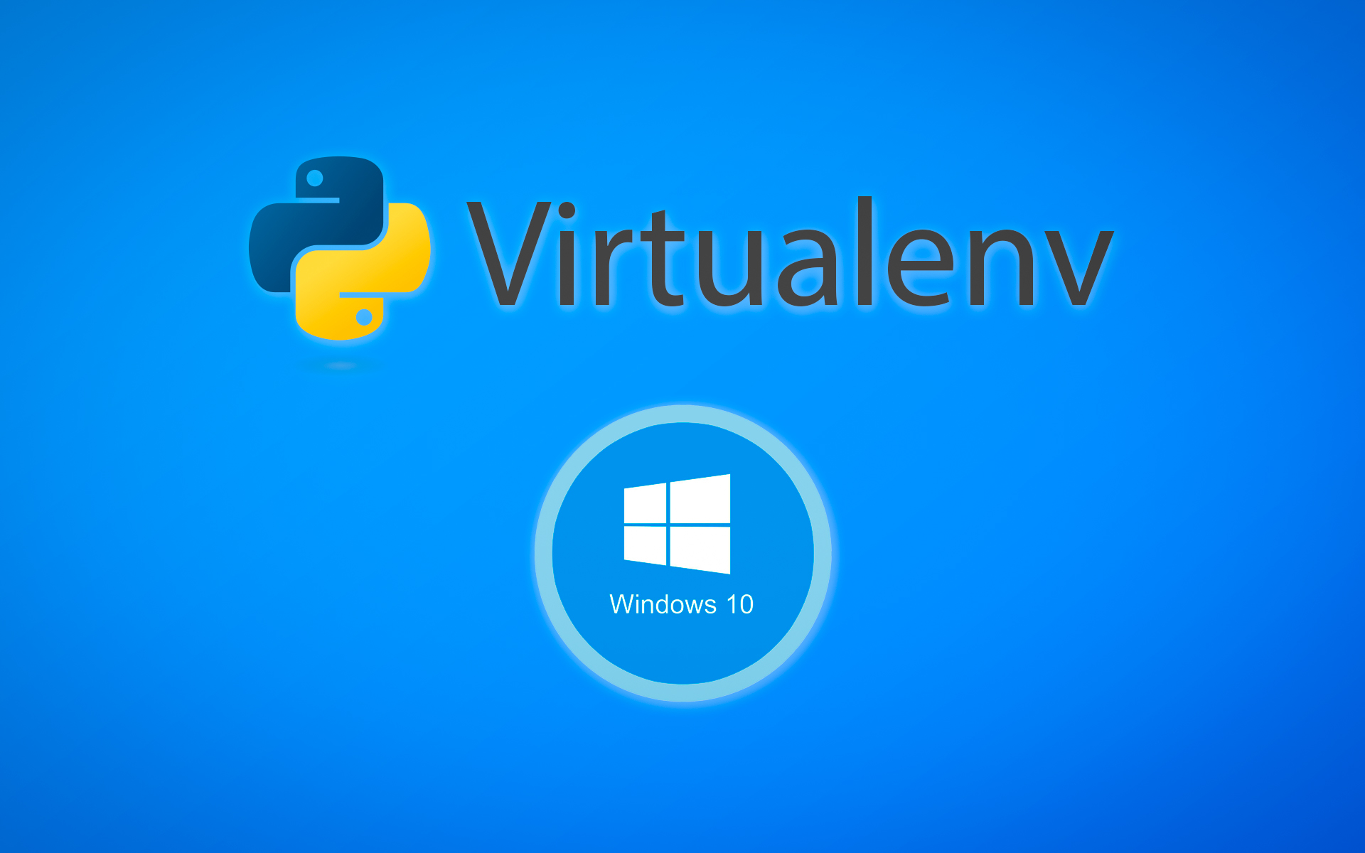 Virtualenv no windows 10